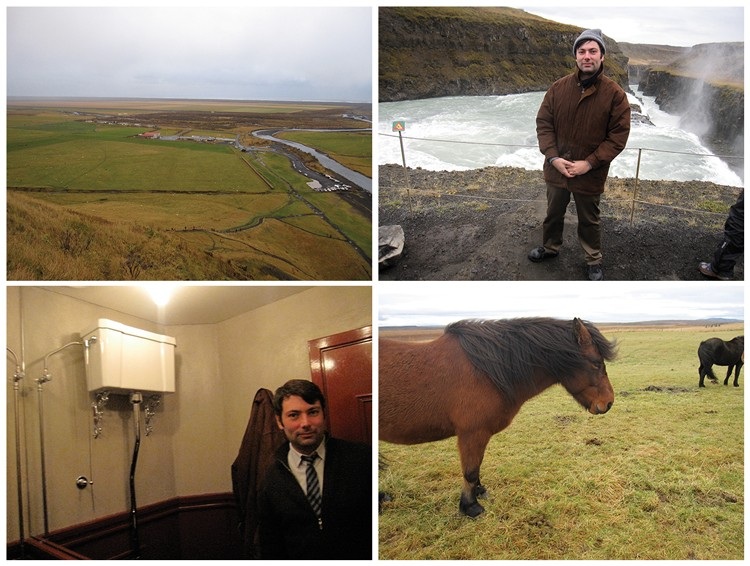 Four pictures of The Accidental Wino, supposedly taken in Iceland.