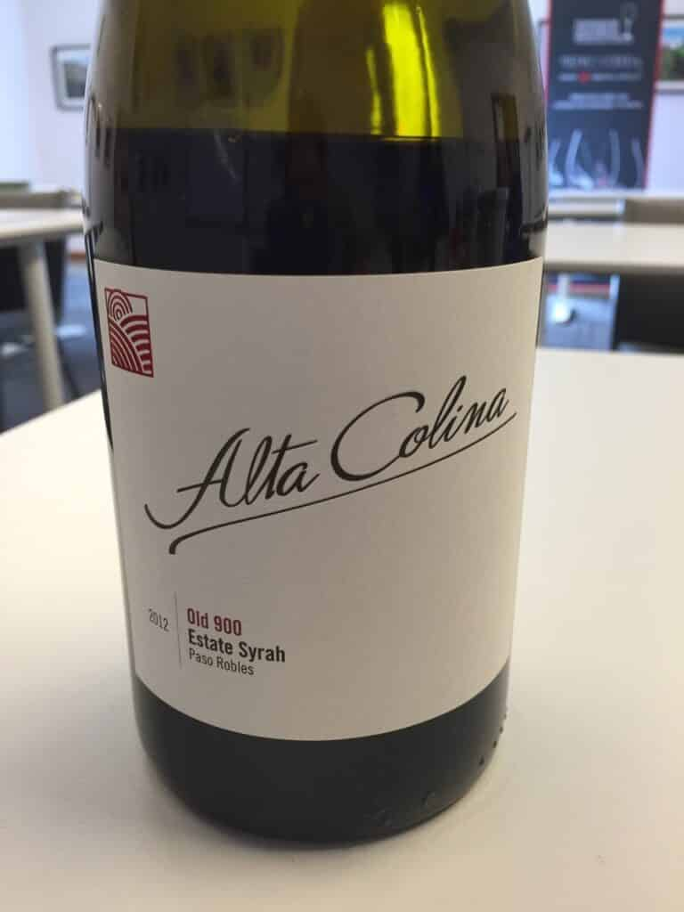 Alta Colina 2012 Old 900 Estate Syrah