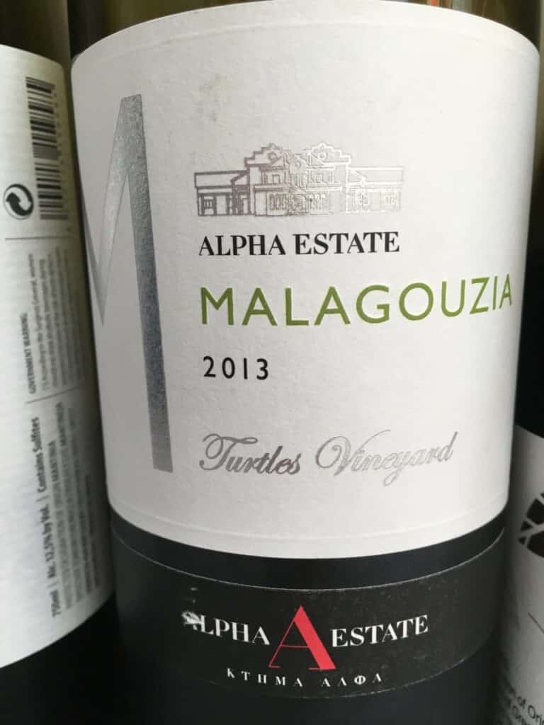 Alpha Estate 2013 Malagouzia, Turtles Vineyard, Amyndeon, Greece