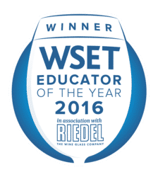 WSET Educator of the year 2016